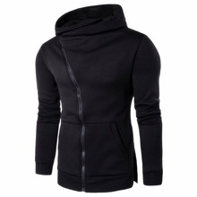 Men Zipper Hooded Coat Outwear Sweater Casual Shirt T-shirts Hoodie Tops camisa masculina