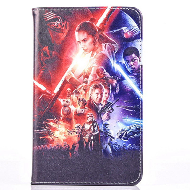 New Arrival Case For Apple Ipad 6 Air 2 Flip Stand Star Wars The Force Awakens