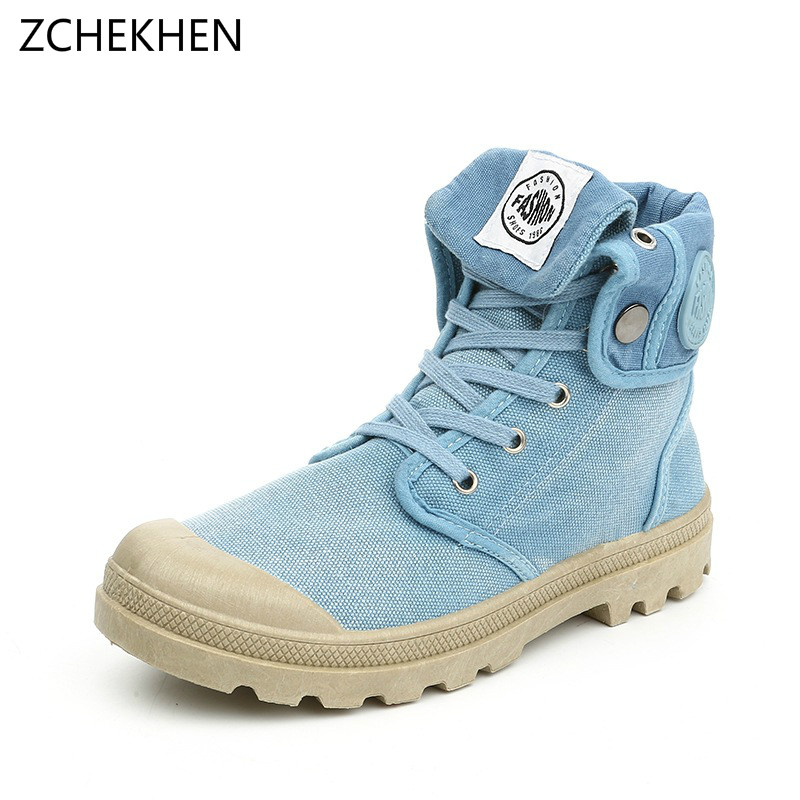 2018 Candy color women High Quality Canvas Shoes Fashion High top women's Casual boots Breathable Canvas women Lace up Shoes цена и фото