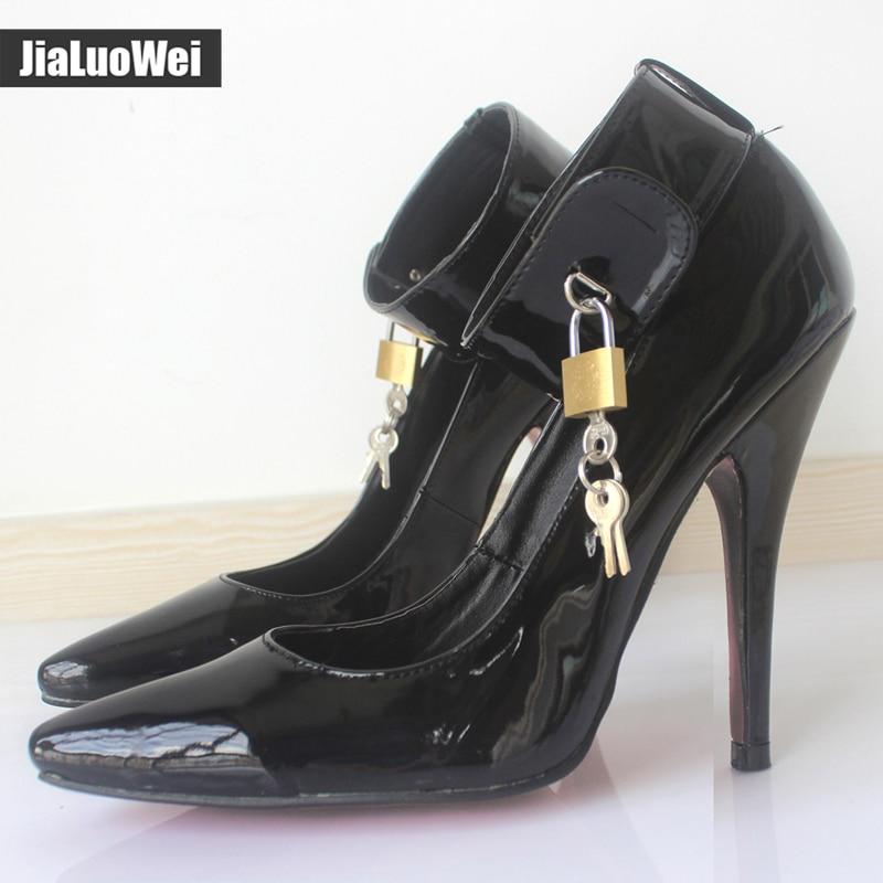 jialuowei BDSM Sexy Fetish High-Heel Pumps Lock And Key 5