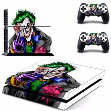 Batman Joker PS4 Designer Skin Game Console System plus 2 Controller Decal Vinyl Protective Covers Stickers(China)