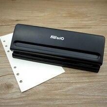 Herramientas de Scrapbooking perforadoras de Metal de 6 agujeros cortador de papel ajustable A4 A5 A6 de hoja suelta DIY artesanía Puncher de encuadernación de oficina suministros