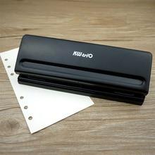 Z metalu 6 dziurkacza Scrapbooking narzędzia do cięcia papieru regulowany A4 A5 A6 luźne liści DIY Craft dziurkacz biurowe wiążące dostaw
