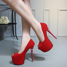 extreme high heels red wedding shoes women platform heels shoes woman high heel pumps women summer party shoes women pumps YMA84