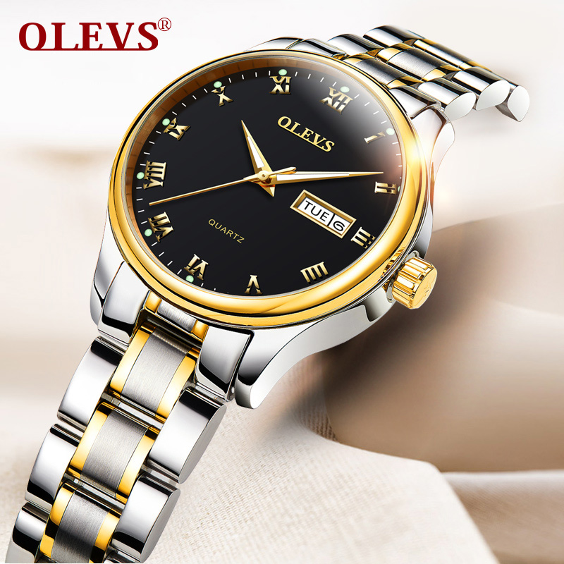 OLEVS Casual Watch Ladies Luxury women watches Brand Quartz Sport Stainless Steel Rold Gold Wristwatch reloj mujer New kol saati 2018 women dress watches luxury brand ladies quartz watch stainless steel mesh band casual gold bracelet wristwatch reloj mujer