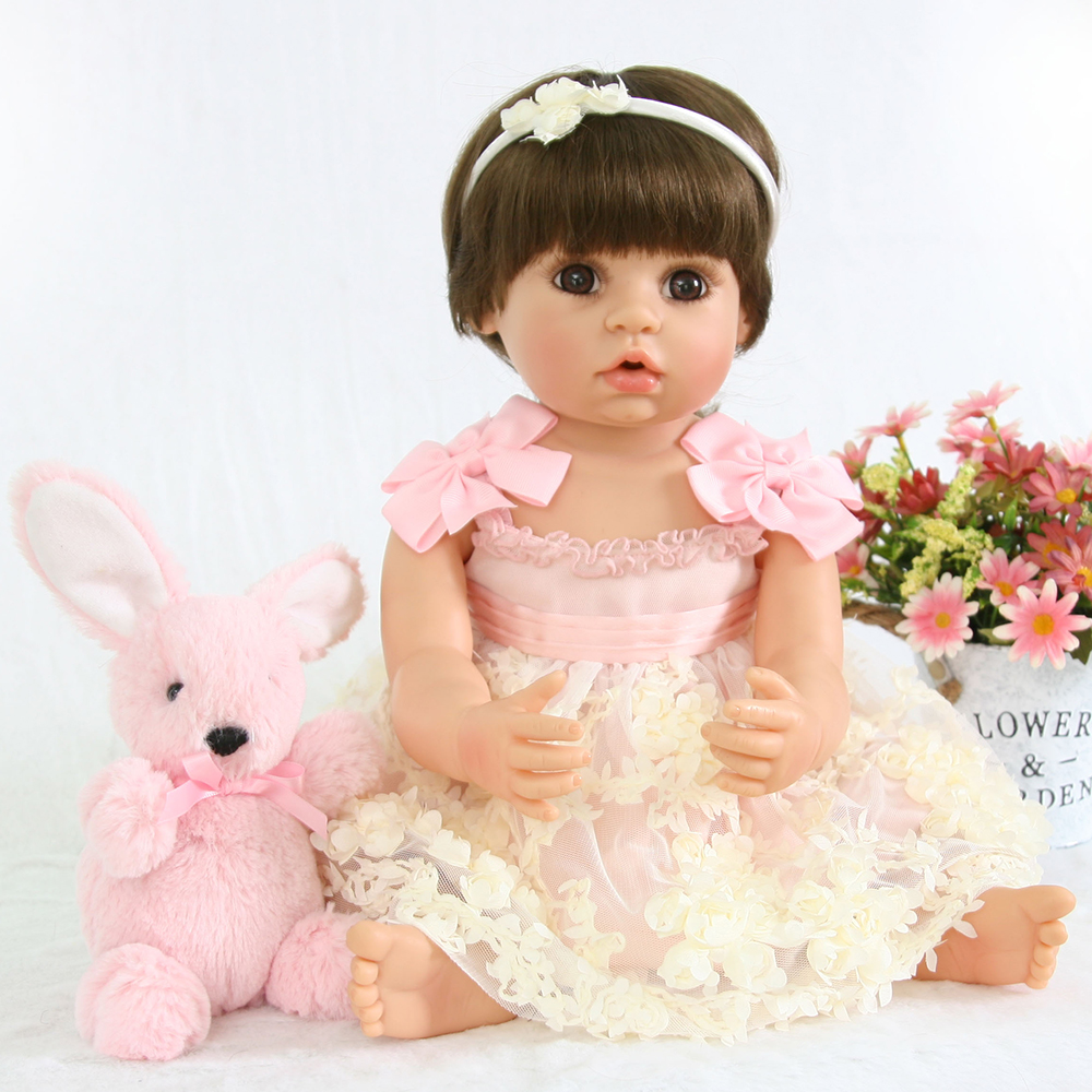 Collection Doll Full Body Silicone Reborn Baby Girl Doll Toys Washable Reborn Baby Alive Dolls for Children Girls Boys Gifts collectible washable full body vinyl silicone reborn toddler princess girl baby alive doll toys for children birthday gift dolls