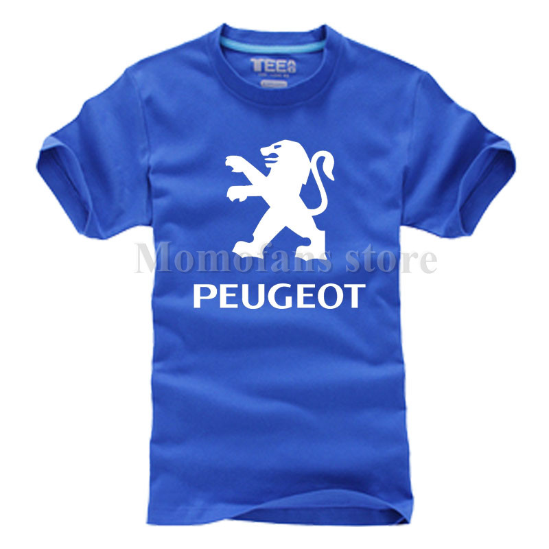 New Fashion Peugeot logo T shirt Brand Clothing Letter Print T Shirt Short Sleeve High Quality T-Shirt for women and men