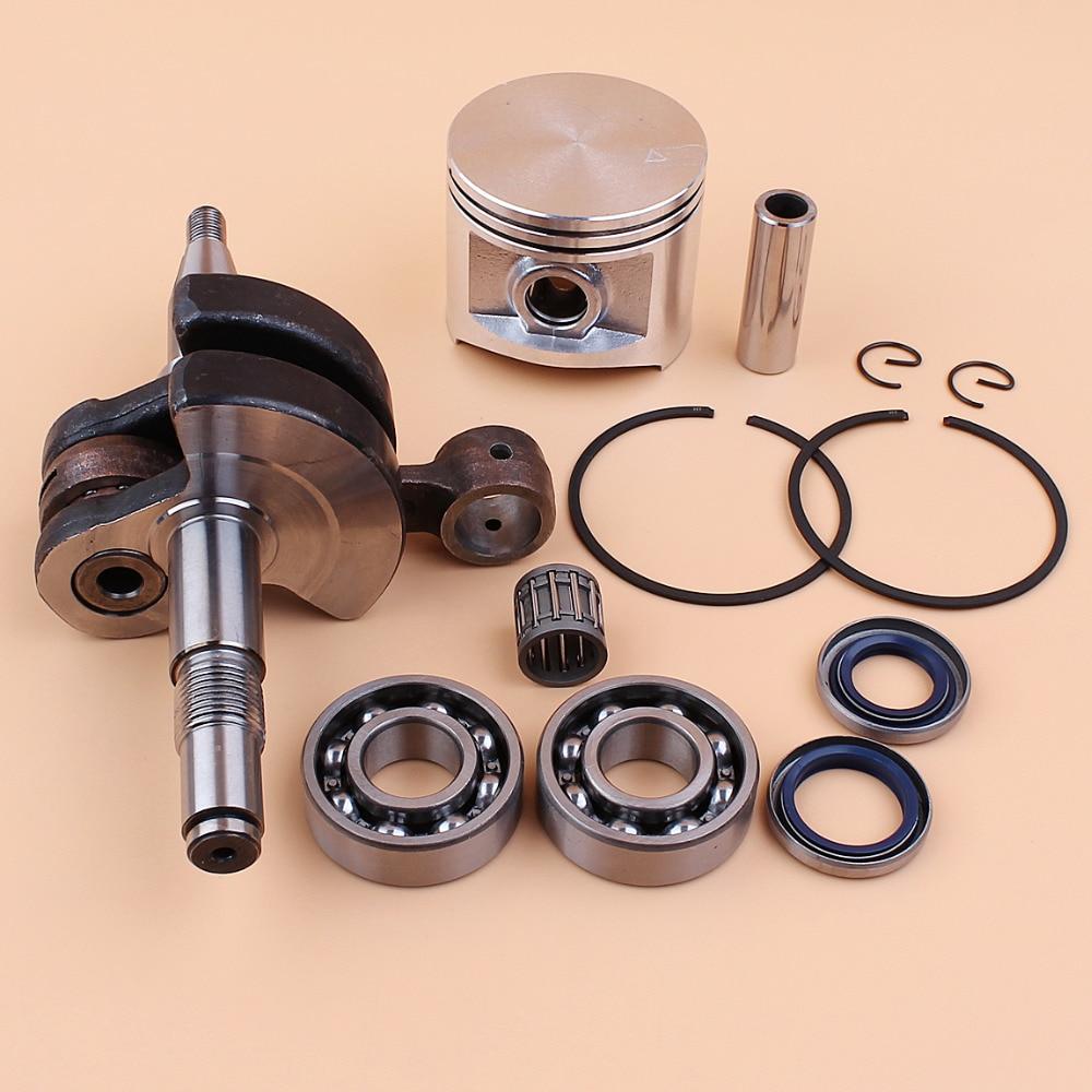 Crankshaft Crank Shaft Bearing Oil Seal & BIG BORE 50mm Piston Set For HUSQVARNA 365 362 371 372 XP Chainsaw Engine Parts