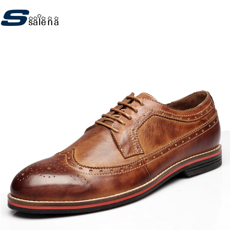 Men Casual Shoes 2017 Soft Footwear Classic Genuine Leather Men Platform Flats Fashion High Quality Shoes AA30063 male casual shoes soft footwear classic men working shoes flats good quality outdoor walking shoes aa20135