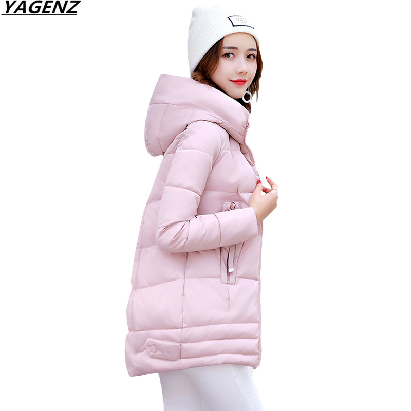 Heat Sell Winter Jacket Parkas Thicken Down Cotton Jacket Women Coat Solid Color Hooded Casual Tops Warm Female Basic Coats K622