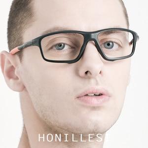 Image 2 - TR90 спортивные оптические очки, оправа для мужчин, баскетбольные очки оверсайз, полноразмерные очки, очки для близорукости, уличные очки по рецепту, 2019