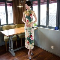 Novelty Women S Sexy Long Cheongsam Fashion Chinese Style Rayon Dress Summer Elegant Slim Qipao Vestidos