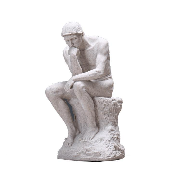Rodin the Thinker Statue Fine Art Sculpture Male Nude Figure Real  Resin Powder Cast/   room Home DecorationRodin the Thinker Statue Fine Art Sculpture Male Nude Figure Real  Resin Powder Cast/   room Home Decoration
