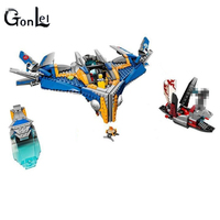 GonLeI 10251 MARVEL GUARDIANS OF THE GALAXY Milano Spaceship Rescue DIY Educational Building Blocks Toys