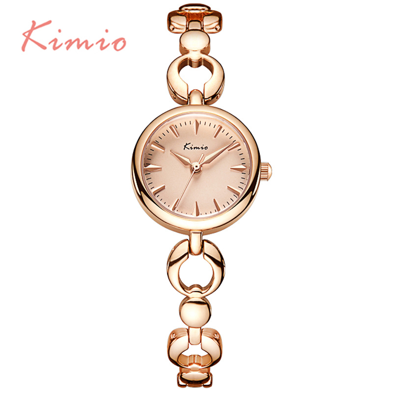 KIMIO 2016 Gold Skeleton Jewelry Bracelet Watch For Women Gorgeous Ladies Watches relogio feminino Christmas Gift For Girlfriend