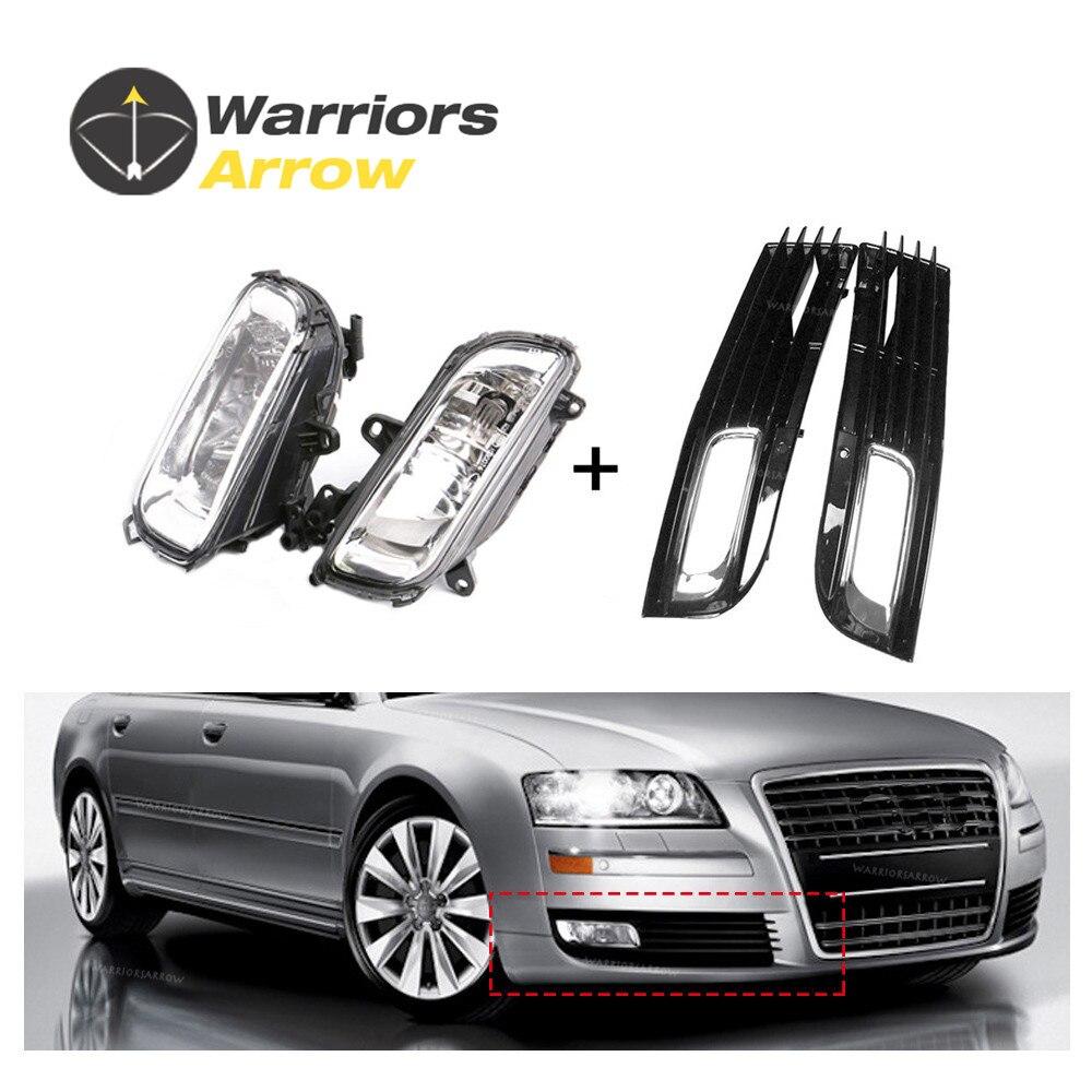 4E0941699B 4E0941700B For Audi A8 QUATTRO A8 D3 2008 2009 2010 x4 Set Halogen Fog Lights