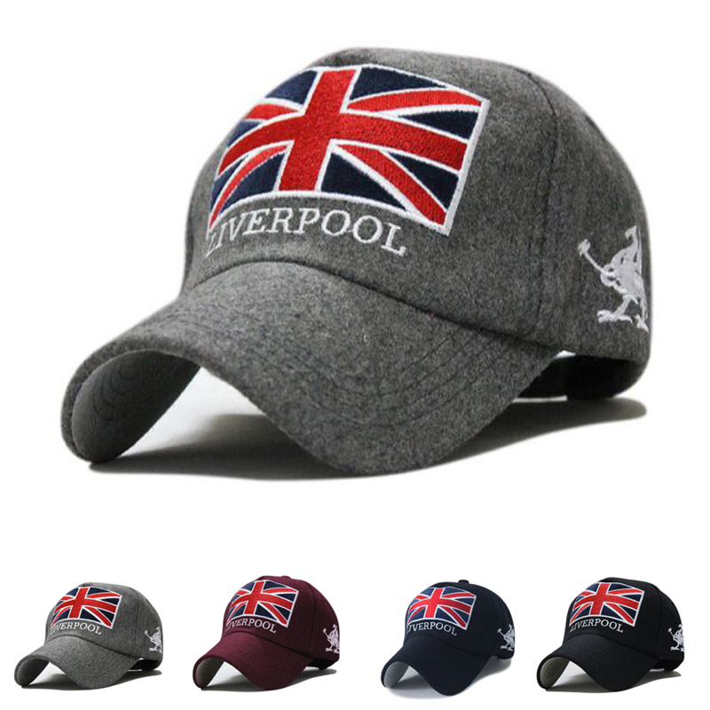 New Arrivals Liverpool Warm Felt Bone Snapback Hat Unisex Gorras Baseball Cap Snap Backs With England Flag For Autumn Winter unisex women warm winter baggy beanie knit crochet oversized hat slouch hot cap y107