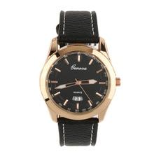 Reloj masculino Casual Fashion Design Requintado Boutique Rodada relógio de Pulso de Quartzo Com Cinto De Couro