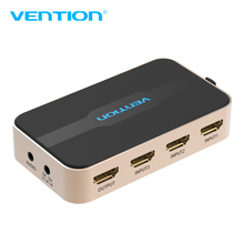 Vention HDMI Switch 3 port with Remote Control HDMI Switcher Splitter With Audio 4K 3D For Xbox 360 PS3 PS4 Smart HD Switch HDMI