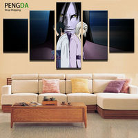 Painting Canvas Wall Art Picture Home Decor Living Room Canvas Prints 5 Pieces Cartoon Animation Naruto