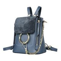 The New Leather Bag Summer Small Backpack With Oblique Backpack Bag Leather Shoulder Messenger Bag Ring