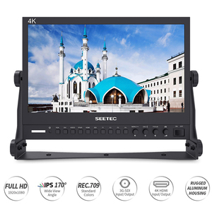"Image 2 - Seetec P133 9HSD 13.3""IPS 3G SDI 4K HDMI Broadcast Monitor Full HD 1920x1080 Field Video Desktop LCD Monitor with AV DVI"
