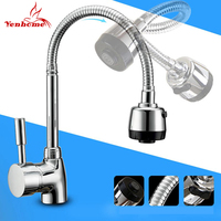 Solid Brass Mixer Tap Cold And Hot Water Kitchen Faucet Single Hole Kitchen Sink Tap Multifunction