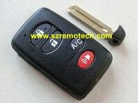Gratis Verzending Hoge Kwaliteit 4B + Paniek met smart card cover afstandsbediening key shell Fit Voor Toyota afstandsbediening sleutelhanger met emergency sleutel