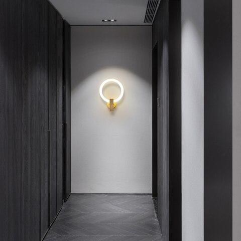 arandelas quarto lampada cabeceira criativo sala estar