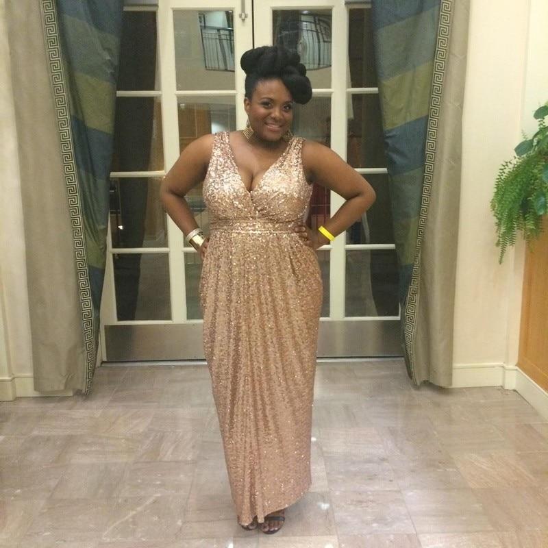 A Line Plus Size Prom Dresses Vestidos De Formatura V Neck