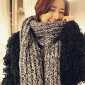 2016 Winter Scarf Female Long Thick Knitted Shawl Warm Scarf