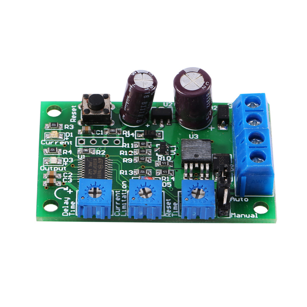 DC 6-28V 10A Motor Over-Current Protector Short-Circuit Overload Protect Module