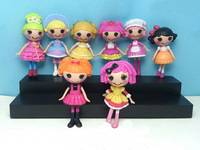 New 8 PCS Lalaloopsy Mini Dolls PlayHouse Mermaid All Different Baby Girl Toys Birthday Gifts Collections