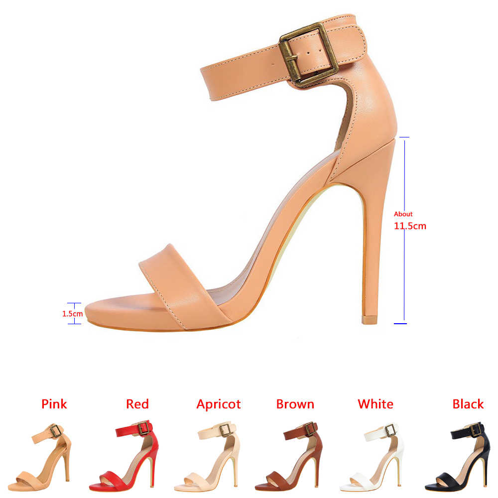 4e3403e46 ... Karinluna/брендовая дизайнерская женская обувь, босоножки из  искусственной кожи на высоком каблуке, оптовая ...