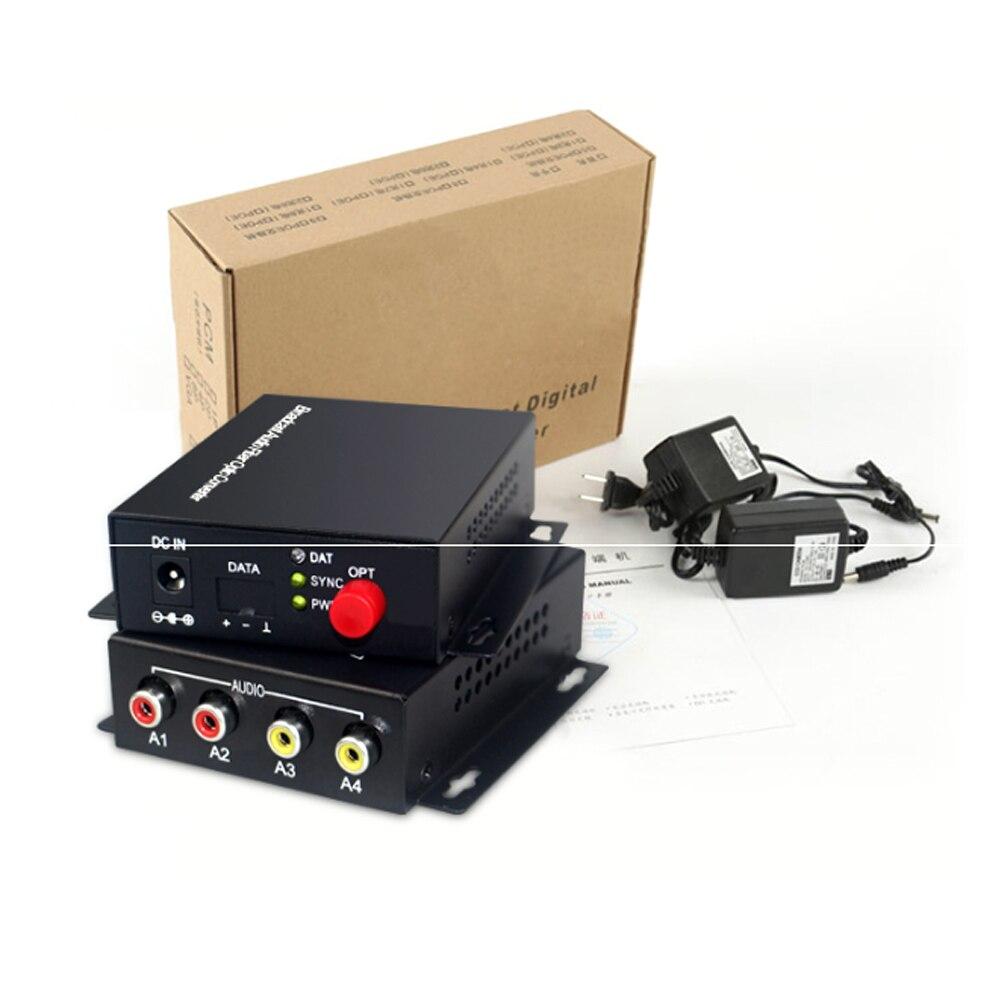 2 transmisor y receptor de Audio sobre FC extensor de fibra óptica (bidireccional), para el Kit de sistema de transmisión de Audio intercomunicador (Tx/Rx) - 5