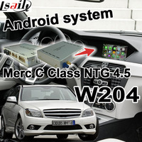 Android 6.0 GPS navigation box video interface for Mercedes benz C Class W204 NTG 4.5 COMMAND AUDIO20 waze youtube carplay