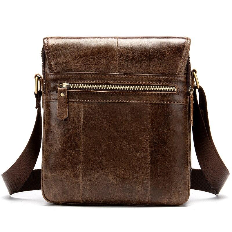 Image 2 - MVA Мужская сумка из натуральной кожи мужские сумки через плечо мужская кожаная модная мужская сумка на плечо мужские сумки 1121-in Сумки-кроссбоди from Багаж и сумки