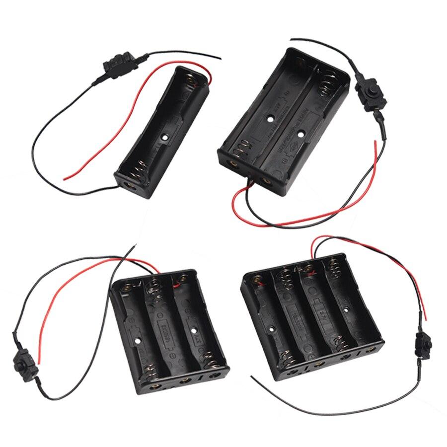 50 pièces 1*2*3*4*18650 support de batterie conteneur boîtier de rangement avec câble interrupteur On & Off pour batterie Rechargeable 3.7V 18650