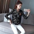 New Fashion Women Jackets Moletom Outwear Casual Short Baseball Jacket Harajuku Coat Cardigans Camouflage Sudaderas Feminino