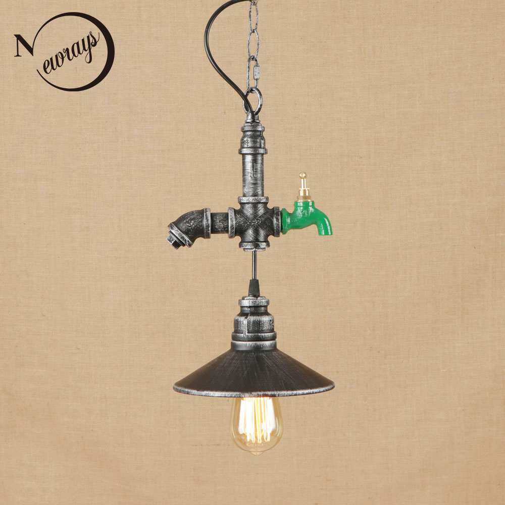Industrial novelty iron hanging lamp LED E27 vintage art deco pendant with 2 colors for living room restaurant bar hotel bedroom loft style vintage pendant lamp iron industrial retro pendant lamps restaurant bar counter hanging chandeliers cafe room