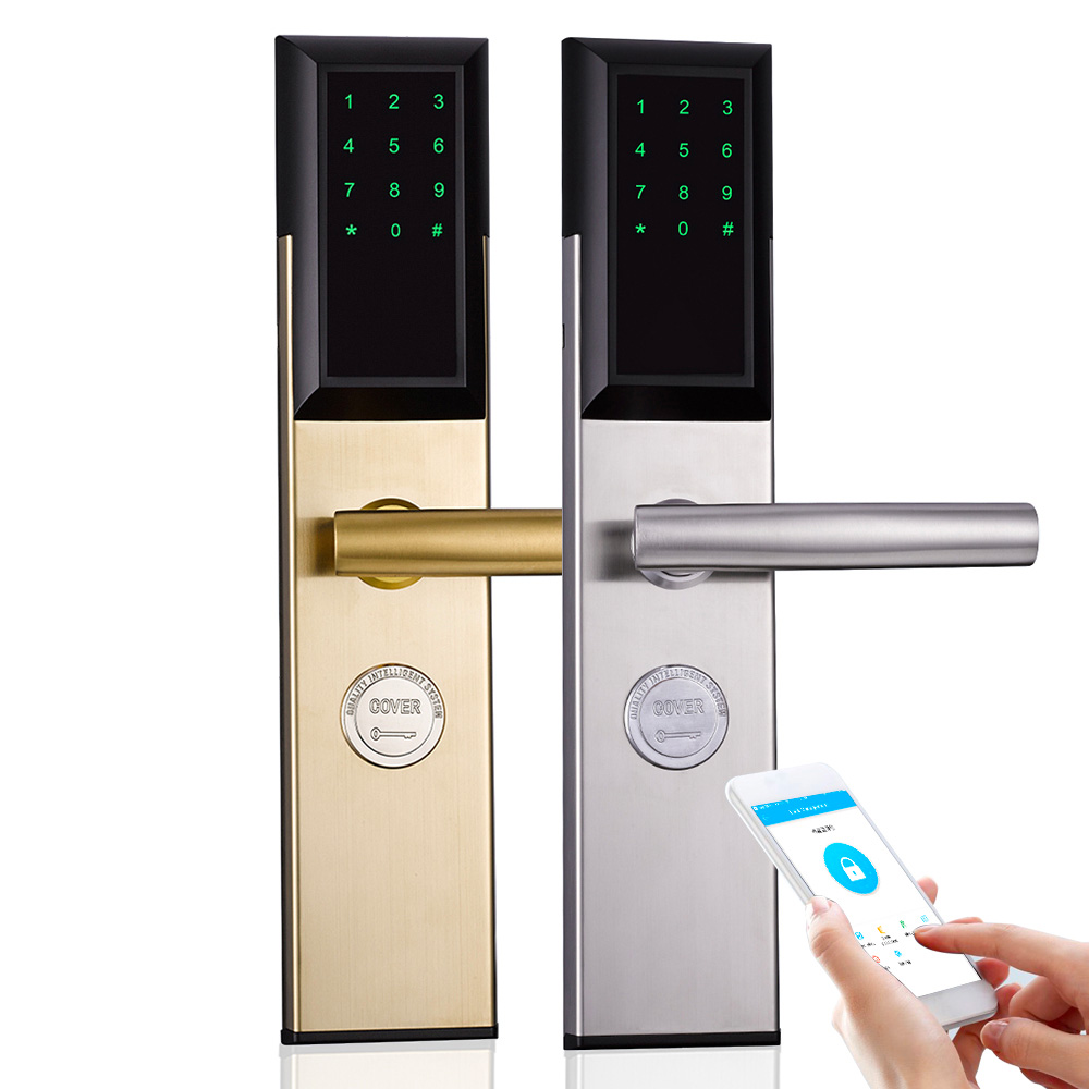 Bluetooth App Control Keypad Smart Door Lock for Airbnb Apartment Gate Lock gujia bluetooth deadbolt lock smart electronic door lock with app for home hotel apartment 802