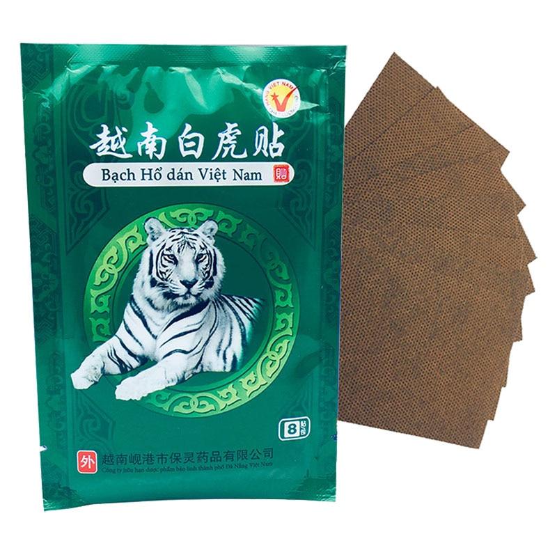 8 Pcs / Lot Vietnam White Tiger Pain Relieve Plaster Patch Meridians Rheumatoid Arthritis Cervical Spondylosis Tiger Balm