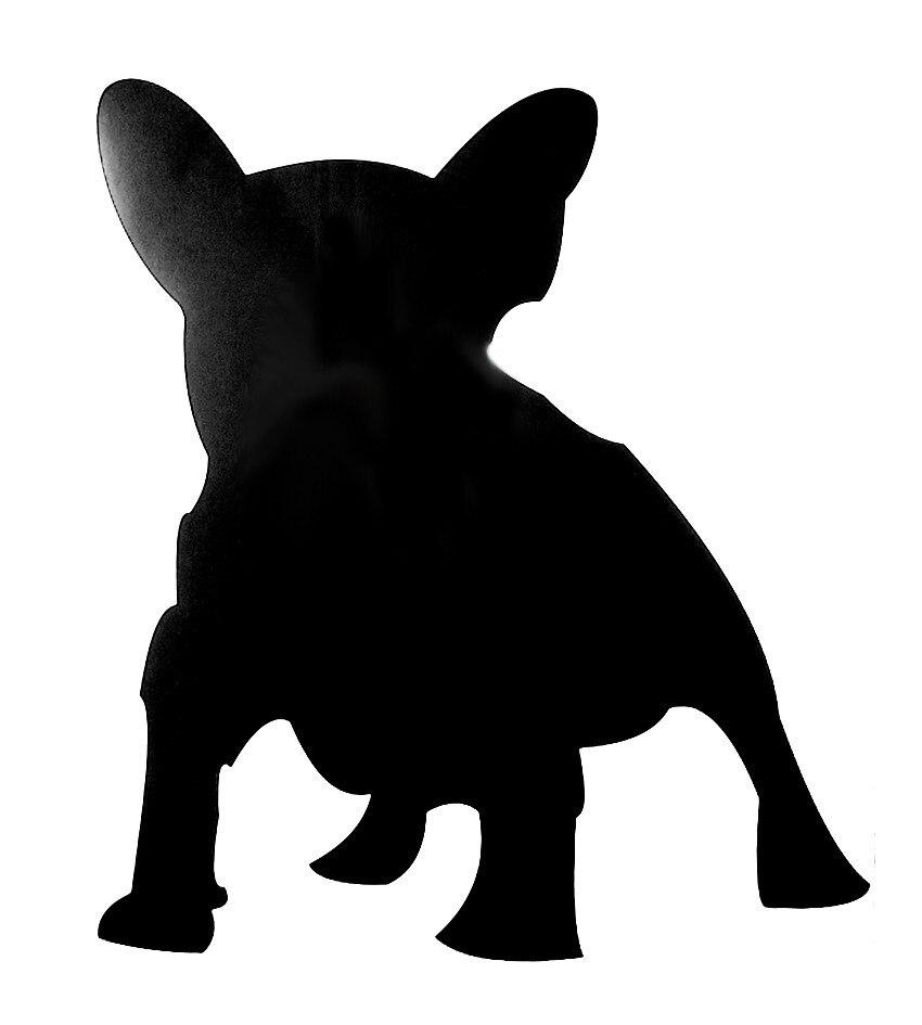 3D czarny frances FRENH Buldog Naklejka naklejka na Home Decor - Wystrój domu - Zdjęcie 2
