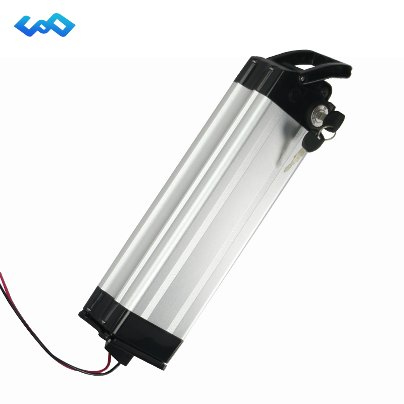 US EU No Tax Silver Fish E-Bike Battery 36V 18Ah Lithium Ion Battery use Samsung/LG cell Electric Bicycle Battery Pack eu us free tax sanyo cell 36v 18ah bottle battery pack 36v 17 5ah electric bike lithium battery 500w e bike battery charger