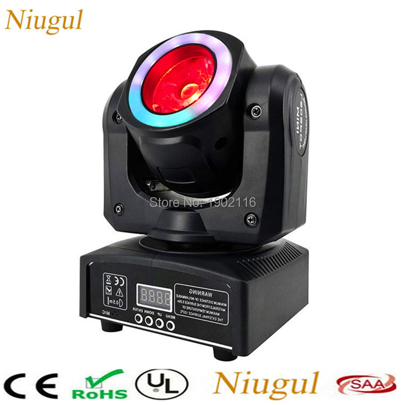 60W RGBW LED Spot Beam Moving Head Light With RGB LED Strip DMX512LED Beam Effect Stage Lighting For Party Wedding Bar DJ Disco new professional 5w led spotlight pinspot spot lamp beam blue spot stage beam lighting for disco beam dj party