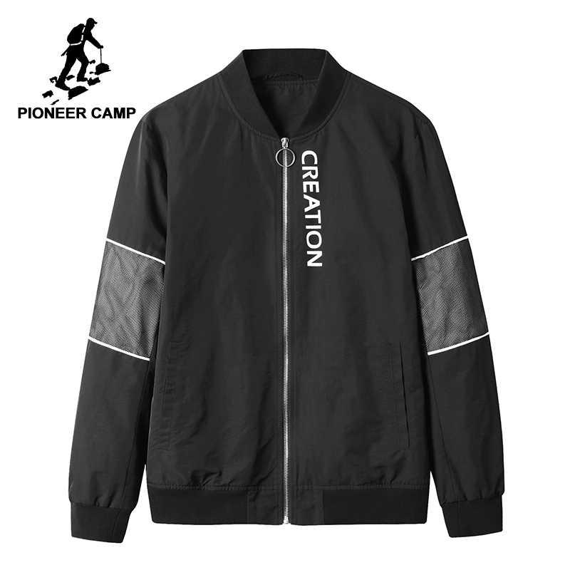 33a68684d8d Пионерский лагерь Новые весенние куртки брендовая мужская одежда сетки  лоскутное модная куртка пальто для мужчин назад