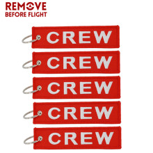 5 PCS/LOT chaveiro Crew Key Ring Keychain Pop llaveros Sleutelhanger Safety Label Embroidery Key chain for Motorcycle key tag цены