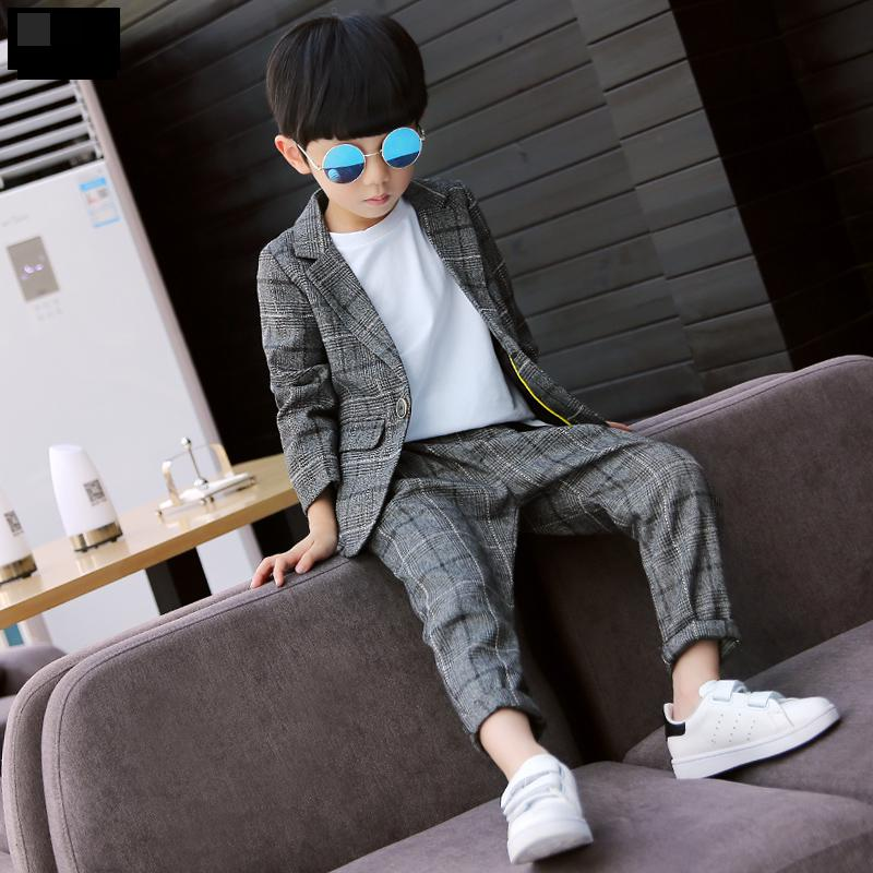 Boys Sets Clothing Spring Sest Dress Baby Boy Suit 2019 Plaid Toddler Boys Clothing Set Spain Kids Clothes Children's 5 7 8 9 11