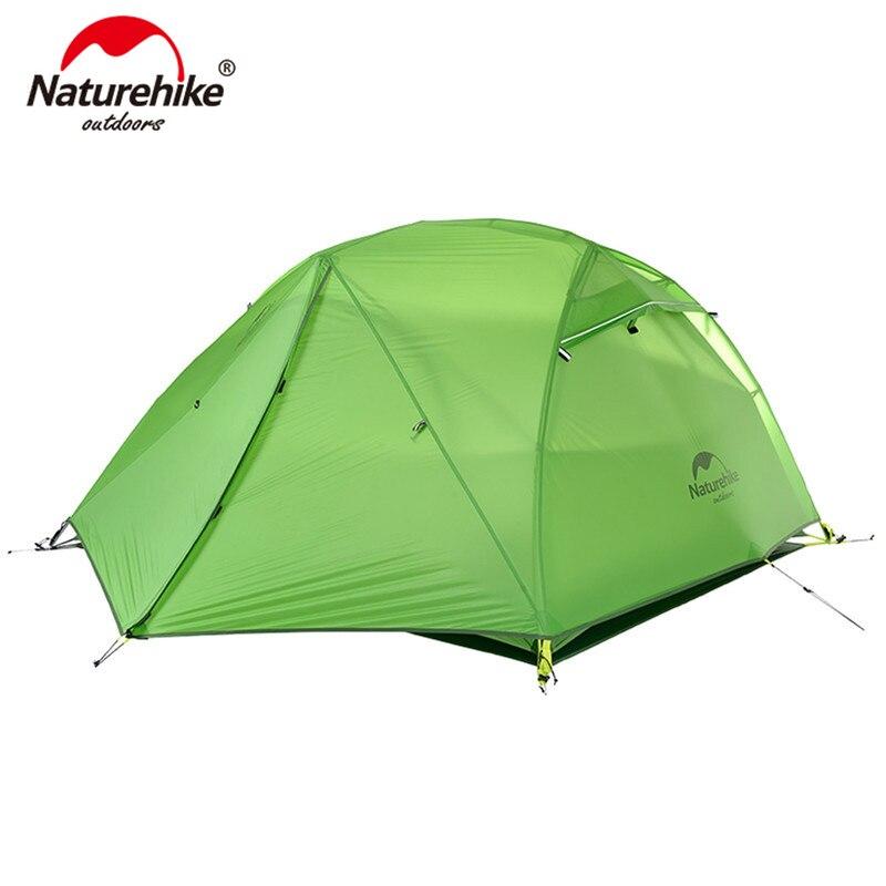 Naturehike Estrela Rio de Campismo Tenda Ultraleve 2 Pessoa 4 Temporada Tenda Com Mat Livre Atualizado NH17T012-T