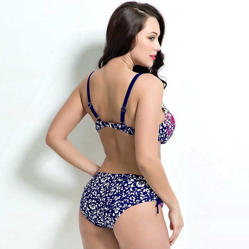 36c70a55d1150 Fat Women Bikinis Sets Swim Bra Woman Swimsuit with Shorts Maternity  Swimsuit Plus Big Size Swimwear 48 50 56 Beachwear-in Bikinis Set from  Sports ...